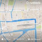 距離5.22km 時間32:31 カロリー341