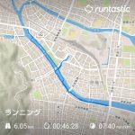 6.05km 46:28 7:40min/km