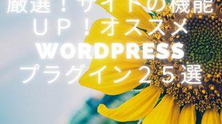 【2021年版】厳選!サイトの機能UP!オススメWordPressプラグイン25選